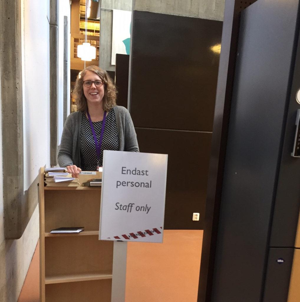 Bibliotekarie Sofie Kraft