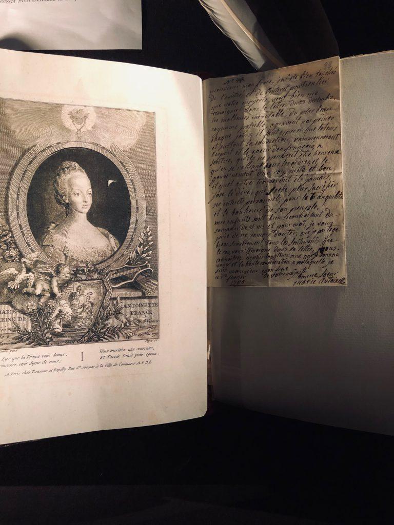 Brev av och bild på Marie Antoinette. Letters by and image of Marie Antoinette.